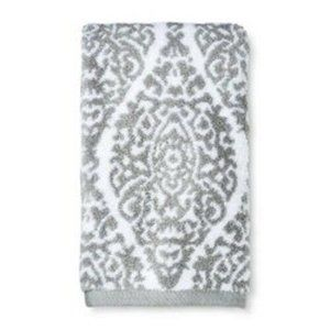 Paisley Print Ogee Hand Towel White Grey Threshold
